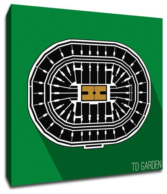 Boston Celtics, TD Garden NBA Seating Map Canvas 16