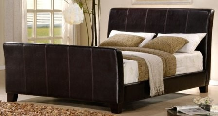 syracuse dark brown leather queen bed frame more info - Leather Queen Bed Frame