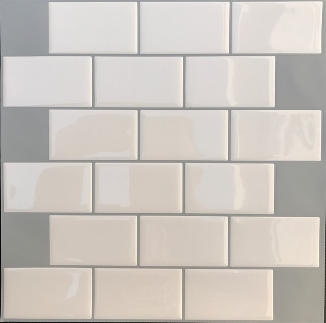 Easy Peel and Stick 3D Vinyl Mosaic Tile, 4 Sheets, 2.78 Sq.Ft ...