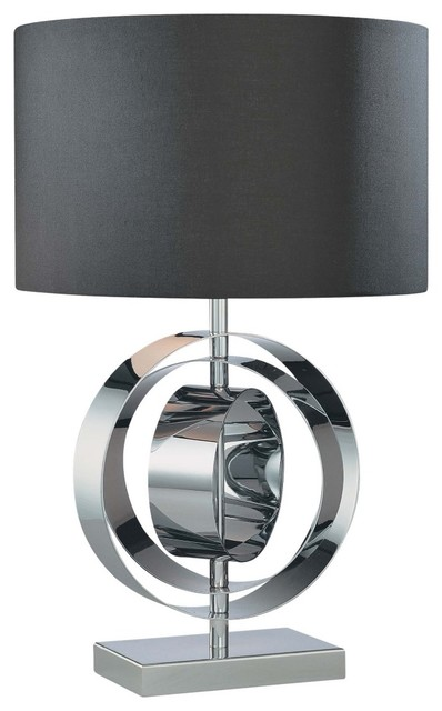 1 light table lamp chrome with black glass contemporary table 1 light table lamp chrome with black glass contemporary table lamps aloadofball Images