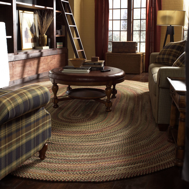 Sherwood Braided Oval Rug Amber Contemporary Area
