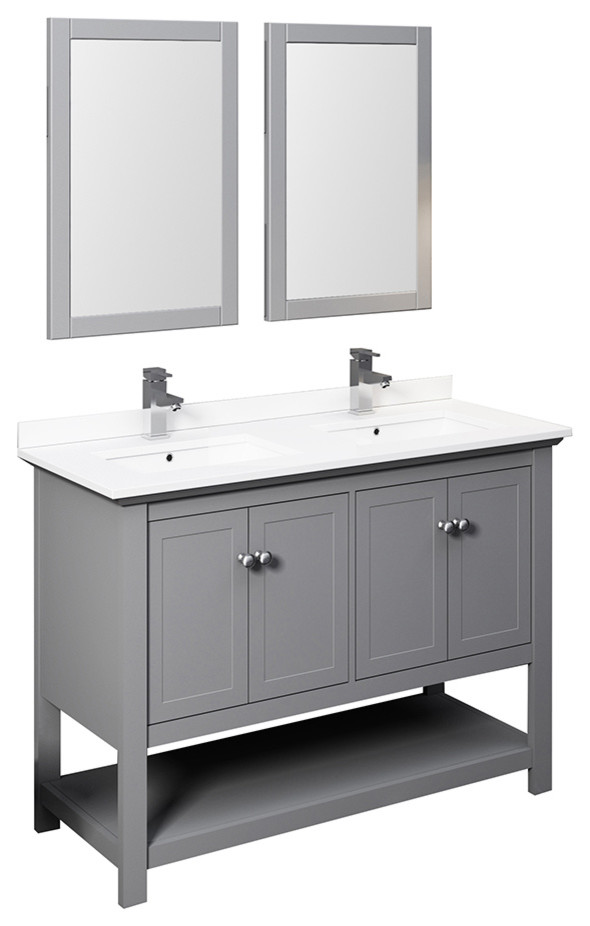 Fresca Manchester 48 Double Sink Vanity With Mirrors