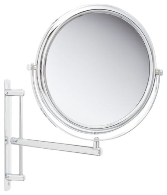 Jerdon Jp3030cf 9 Inch Two Sided Swivel Wall Mount Mirror