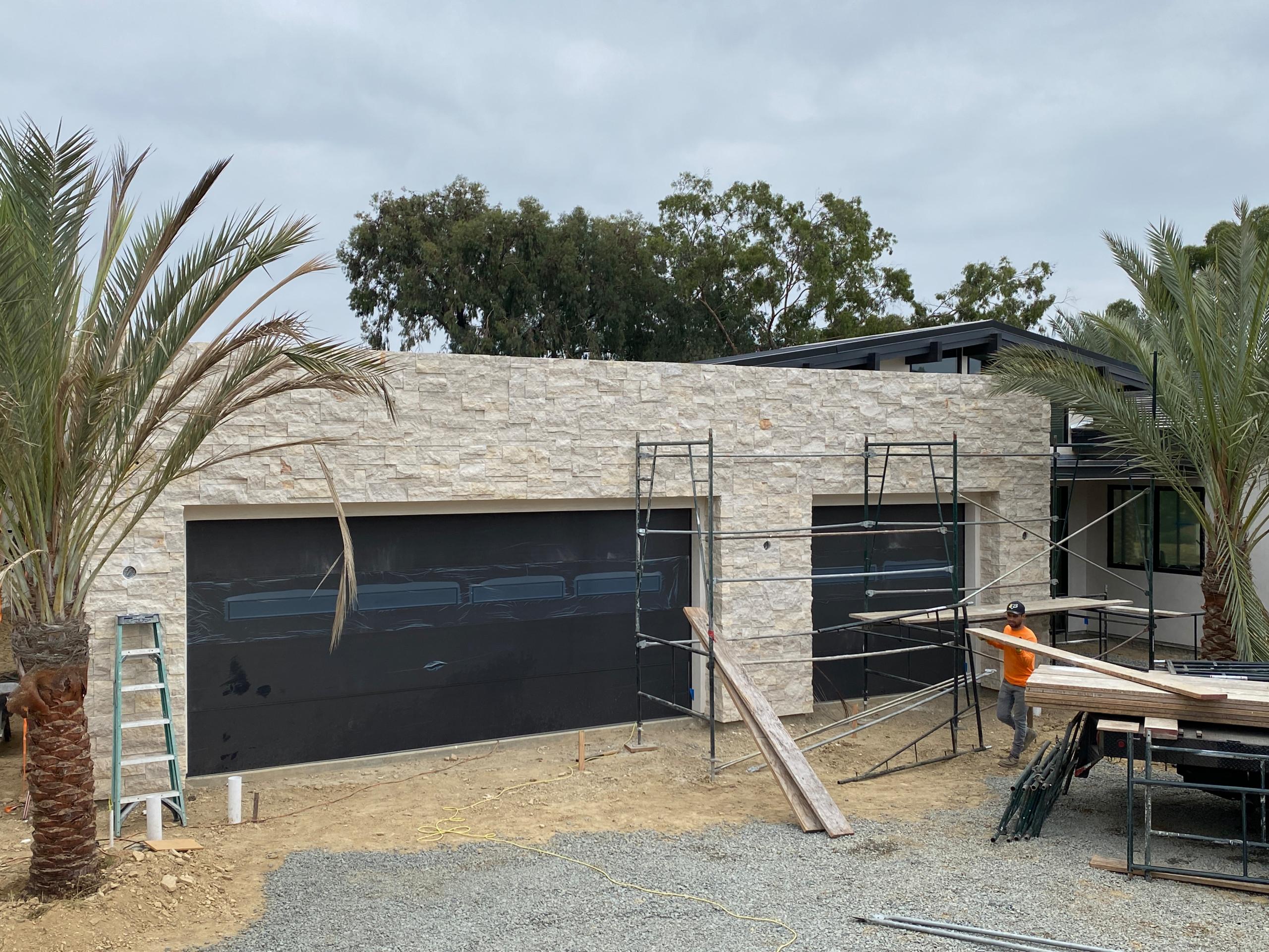 Just Installed Stone Veneer on this Garage Wall