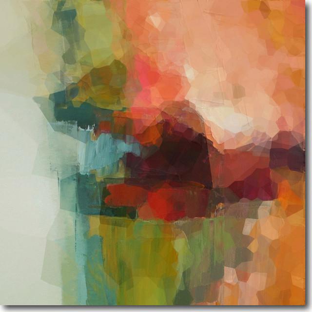 """misty Soul Reflection"" Artwork By Rebecca Bennett, 30""x30""."