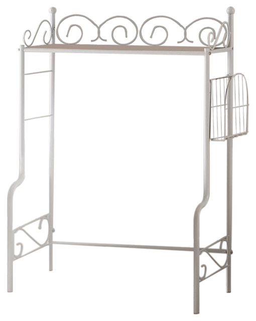 Bianca Bathroom Rack, White