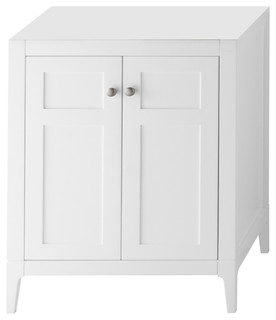 """Ronbow Briella Solid Wood 30"""" Vanity Cabinet Base, White"""