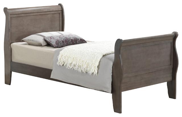Tara Bed, Driftwood, Twin.