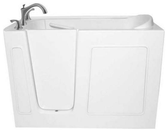 """51""""x26"""" Ariel Walk-In Ada Compliant Bathtub, Left, Air Massage System."""