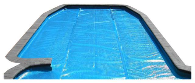 Rectangular Heat Wave Solar Blanket Swimming Pool Cover, Blue, 12\'x24\'