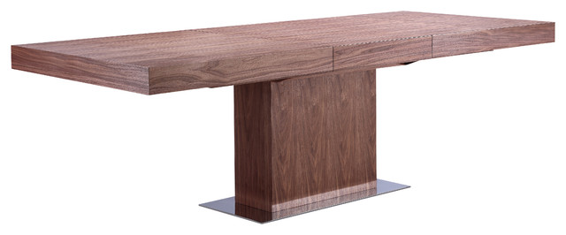 ponte extendable dining table, walnut - contemporary - dining