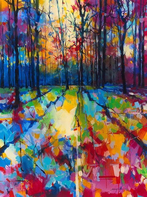"""""""Mile End Woods"""" Canvas Print by Doug Eaton, 85x120 cm"""