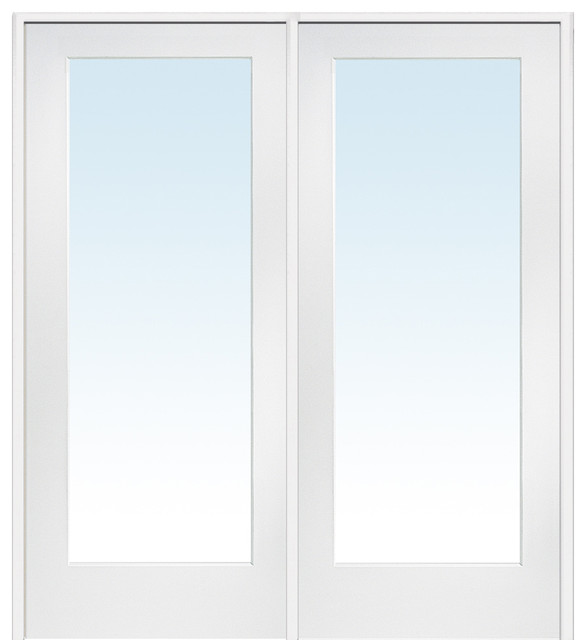 Shop houzz masonite clear 1 lite primed wood interior for All wood interior doors