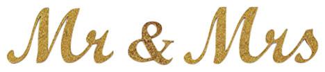 Large Metallice Mr. & Mrs. Sign, Gold.