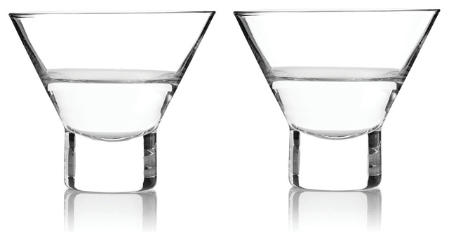 stemless martini glasses plastic bed bath and beyond contemporary cocktail crate barrel