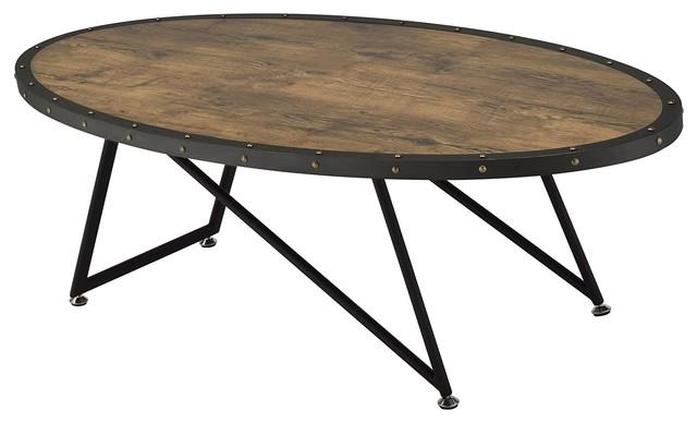 Retro Coffee Table, Weathered Dark Oak.