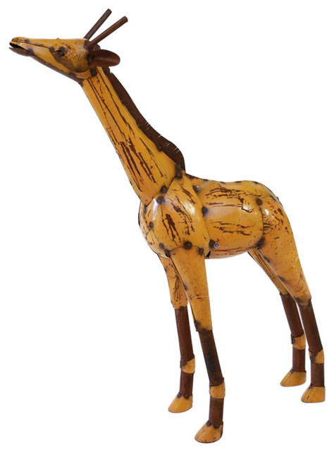 Recycled Metal Yellow Giraffe