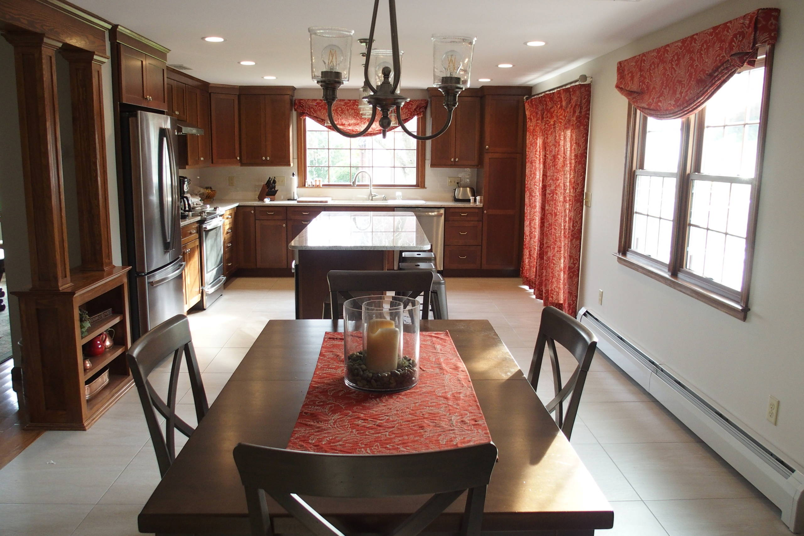 Remodeled kitchen in Connecticut