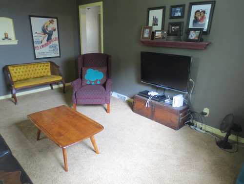 Is there any furniture you'd suggest I move or remove? I've attached  several photos to show the layout of the room. Thank you in advance!!