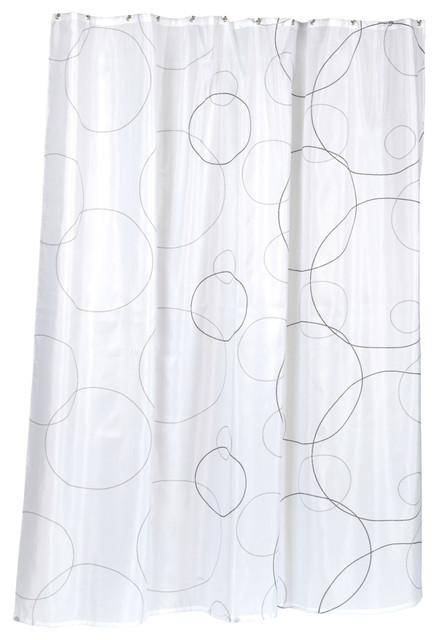 Modern Polyester Fabric Shower Curtain White Gray Shower Curtains Houzz
