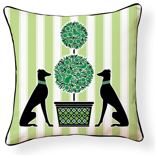 Garden Greyhound Pillow.