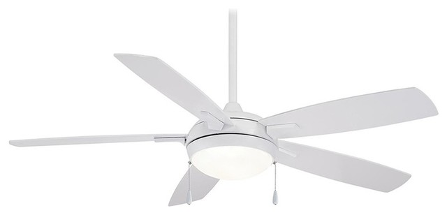 """Lun-Aire 54"""" Led Ceiling Fan, White."""