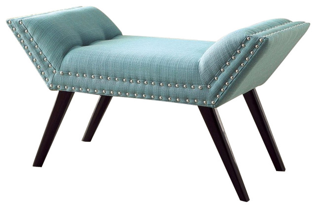 Wesby Contemporary Bench, Blue. -1