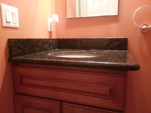 How To Install Bathroom Vanity Top please help: need advice on granite vanity top install issue!!!