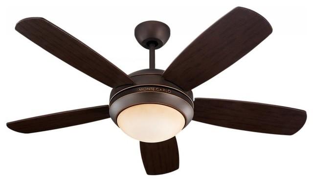 One Light Bronze Ceiling Fan.