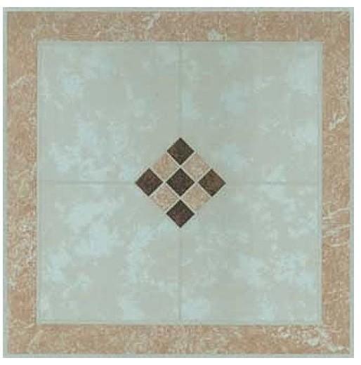 "12""x12"" beige checkerboard vinyl self stick tiles, set of 20"