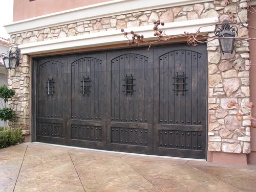 Garage doors stain color for Stained garage doors