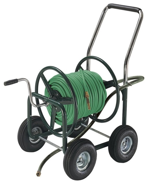 ames estate hose reel wagon with pneumatic wheels - Garden Hose Reel