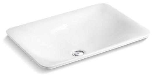 Kohler Sartorial Paisley In White On Carillon Wading Pool Bathroom Sink