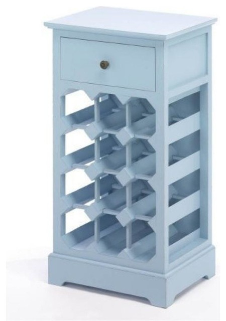 AEWholesale Blue Wood Wine Cabinet With Drawer - Wine And Bar Cabinets ...