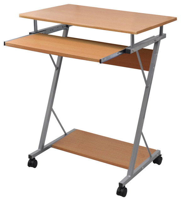 Vidaxl Computer Desk Pull Out Tray Student Table Brown