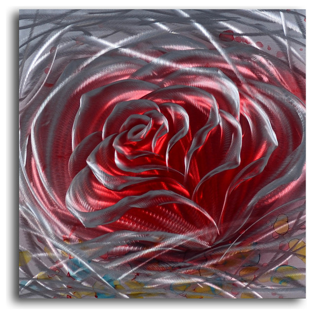 Metal Rose Wall Art Metal Wall Art Decor Abstract Contemporary Modern Sculpture Iron