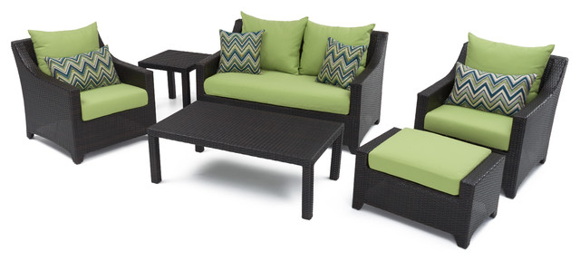 Terre Nova 6-Piece Patio Seating Set, Green.