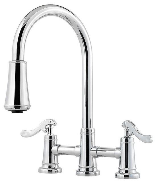 pull down kitchen faucet. . concord modern satin nickel spiral