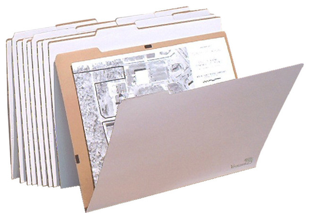"Aos Vfolder, 10-Pack Rigid Storage Folder For 17""x22"" And 18""x24"" Documents"