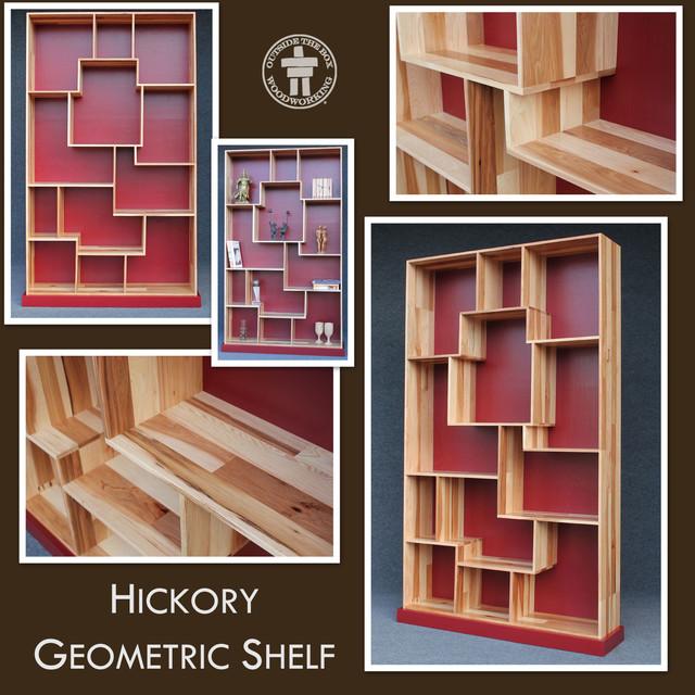 Sangria Hickory Geometric Shelf