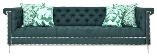 Sinatra Sofa, Emerald Linen.