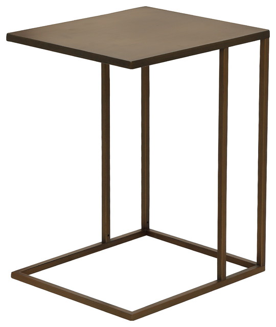 Dash Side Table, Brushed Brass Transitional Side Tables And End