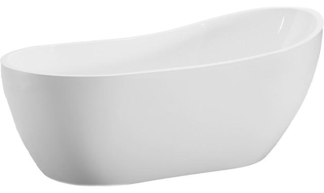 Woodbridge 54\'\' Modern Bathroom Freestanding Bathtub ...