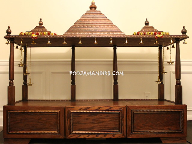 Custom pooja mandirs traditional raleigh by custom for Temples at home designs