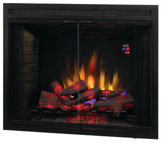 Builder s box electric fireplace insert contemporary indoor fireplaces by addco electric - Contemporary electric fireplace insert accessories ...