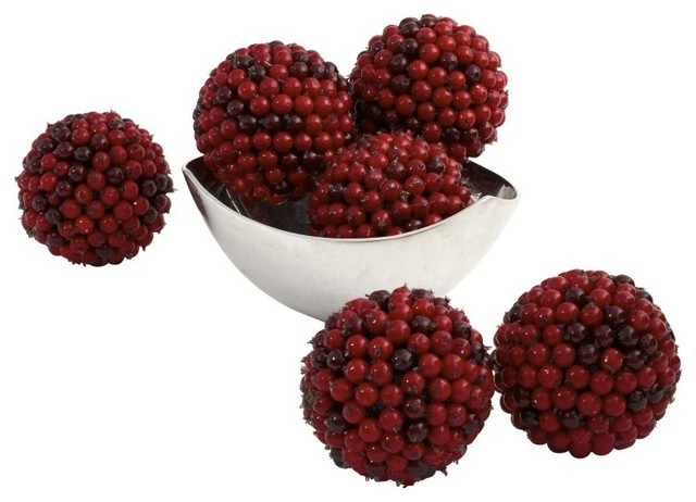 Berry Ball In Red - Set Of 6.