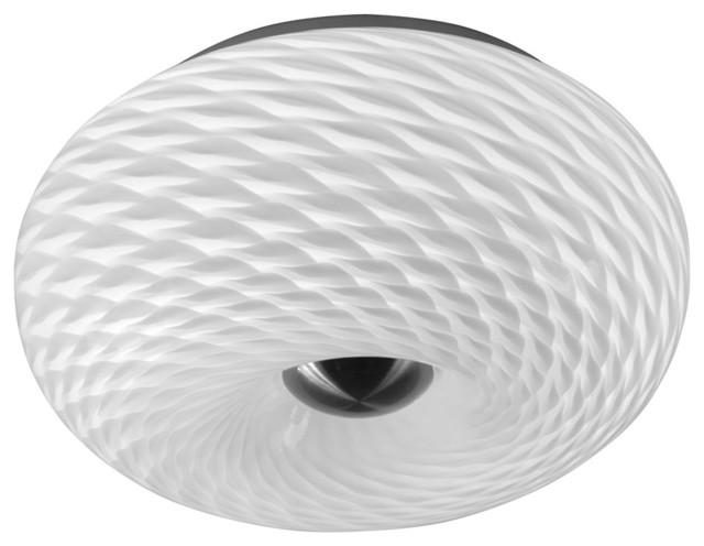 Mackerel Glass 2-Light Flush Mount, White.