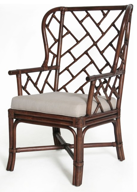 Palm Beach Chippendale Wing Chair Beach Style