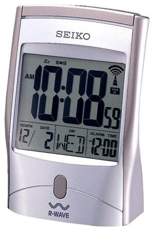 Seiko R Wave Radio Controlled Atomic Alarm Clock With Date And Temperature