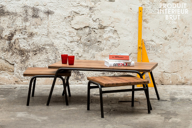 Industrial style industrial coffee tables by pib - Table basse rangement bouteille ...
